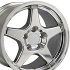 17x95 Polished C4 Corvette ZR1 Style Wheels Set of 4 Rims Fit Camaro SS OEW