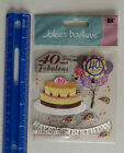 New Pack Jolees Boutique 40TH BIRTHDAY Dimensional Sticker Package