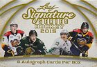 2015 Leaf Signature Hockey Cards Hobby Box of Autographs