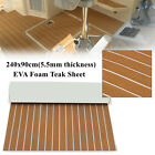 35X94 Self Adhesive EVA Foam Marine Boat Flooring Teak Decking Floor Brown US