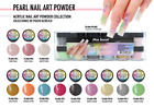 Mia Secret Nail Art Acrylic Professional Powder 12 Colors Set - PEARL