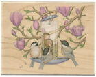 STAMPABILITIES Rubber Stamp HOUSE MOUSE Feeder Friends FREE Shipping