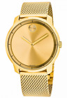 Movado Bold Gold Dial Gold Tone Mesh Men's Watch 3600373