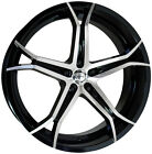 Forte F70 Jekyl 18X8 5x115 +38mm Black Machined Wheel Rim