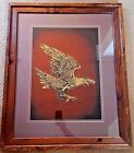 Texas Artist Jack White Gold Leaf Flying Eagle Echruseos Painting Make Offer