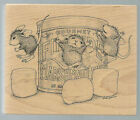STAMPA ROSA Rubber Stamp HOUSE MOUSE Marshmallow Bounce FREE Shipping