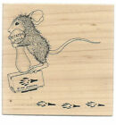 STAMPA ROSA Rubber Stamp HOUSE MOUSE Pogo Stamp FREE Shipping