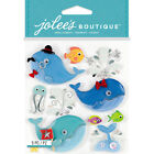 Jolees Boutique Embellishments Stickers Cutesy Whales 1019
