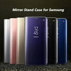Luxury Mirror View Hard Flip Case Stand Cover for Samsung Galaxy Phone S8 Plus