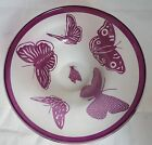 Correia Art Glass LE Stellar Acid Etched Butterfly Bowl Hand Blown 94 315 500