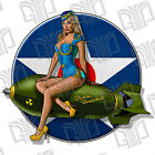 2x Bomber Girl Blonde Bombshell Pinup Sticker Decal UV Vinyl Army Navy Air Force