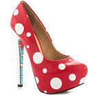 Taylor Says Gnomies Red Graphic Print Gnome Sole Platfrom Pump sz 85 L568