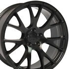 20x9 Satin Black Challenger Hellcat Style Wheels Rims Fit Dodge Charger 300C OEW
