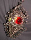 VINTAGE FRENCH / SPAIN LANTERN WROUGHT IRON GLASS SHADES FIXTURE CHANDELIER 1920