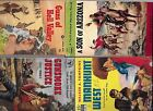 Lot of 4 vintage western paperbacks collectible1940s  1950s
