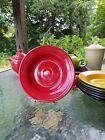 RIM SOUP/ SMALL PASTA BOWL scarlet red FIESTA 9