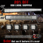42Inch Curved LED Light Bar + 20in +4 CREE PODS OFFROAD SUV 4WD FOG JEEP 40in
