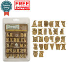Alphabet Upper Case Letters Wood Burning Pyrography Stamps Personalization Set