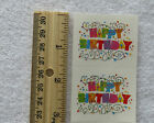 Mrs Grossman EXPRESSIONS HAPPY BIRTHDAY Reflections Half Strip of Stickers