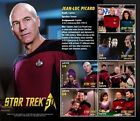 Star Trek 50th Anniversary Jean Luc Picard Collectible Postage Stamps Nevis