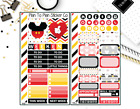 1416 Disney Mickey Mouse Inspired Personal Weekly Kit Planner Stickers