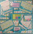 Premade Scrapbook Page Embellishment Kit SEWN 12 pieces Easter Baskets