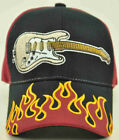WHOLESALE NEW! ROCK GITAR FLAME CAP HAT BLACK