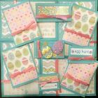 Premade Scrapbook Page Embellishment Kit SEWN 12 pieces Easter Eggs