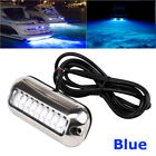 Stainless Steel 27LED Blue Underwater Pontoon Marine Boat Transom Lights