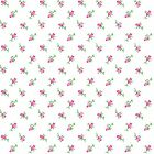 Fabric Rosebuds Pink on White Flannel by the 1 4 yard BIN