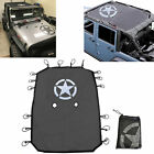 1x Sun Shade Soft Top Mesh Cover UV Protection for Jeep Wrangler JK 2007 2018