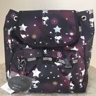 NWT LeSportsac small edie backpack bag Purse snoopy in the stars black pink 88