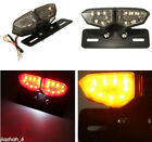 Motorcycle Smoke LED Brake Rear Tail Turn Signal License Plate Integrated Light