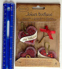Jolees Boutique LAYERED GLITTERED HEARTS Package With 4 Dimensional Pcs