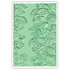 Sizzix 3 D Textured Impressions Embossing Folder Lily Pond 661950