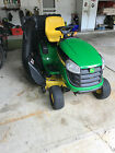 John Deere D140 Riding Mower 48 inch w V Twin Hydrostatic w bagger and more