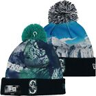 YOUTH NewEra MLB Seattle Mariners Knit Pom Top Cuffed Beanie Hat Pick Your Style