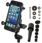 RAM Mount Motorcycle Fork Stem Mount X Grip Cell Phone Holder iPhone 6 7 Plus