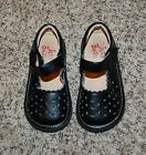 Itzy Bitzy girls black mary janes shoes sz toddler 9 fit like a 10 EUC