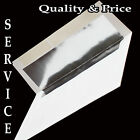 100 Boxed A7 Envelopes White Silver Foil Lined for 5X7 Wedding Invitation Shower