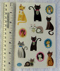 Mrs Grossman CRAFTY CATS Sheet of Cute Crafty Cats Being Cats Stickers
