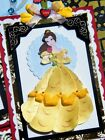TWAG ScrappinLin Disney Beauty and the Beast Premade Scrapbook Page Gold Belle