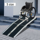 2 4 6 8 10ft Folding Aluminum Wheelchair Ramp Portable Mobility Scooter Carrier