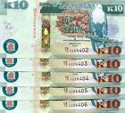 ZAMBIA 10 KWACHA 2012 P-51 UNC LOT 5 Pieces (PCS)