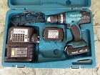 Makita DHP453 combi drill 18v+ 1.5Ah battery x2 + charger + case