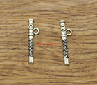 30pcs Flute Charms Musical Instrument Band Charms Antique Silver Tone 7x29 1588
