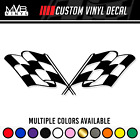 Checkered Flag Vinyl Decal Sticker Race Racing Street Funny Car Truck Window 406
