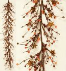 Country`Primitive Fall Mixed Piperry Garland`with Rusty Stars` ` 58