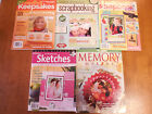 Magazines Memory Makers Keepsakes Scrapbooking Stamping Crafts Lot of 5