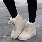 Womens Winter Warm Casual Faux Suede Fur Lace up Ankle Boots Snow Boots Shoes